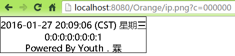 Servlet输出IP到图像